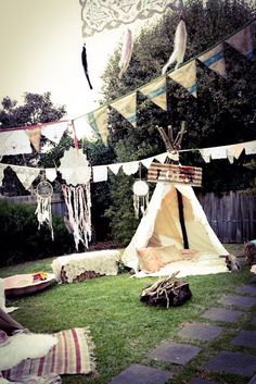 Lola's first pow wow. Tee pees. Boho. Baby birthday. Cowgirls and Indians