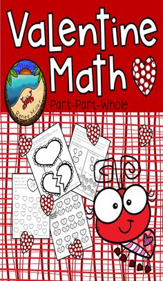 Valentine's Day Activities First Grade: Math First grade math supplemental worksheets Part, part, whole concept reinforced on every page. First Grade Activities, Teaching First Grade, 1st Grade Math, Classroom Fun, Classroom Activities, Fun Activities, Holiday Activities, Valentines Day Activities, Valentine Day Crafts