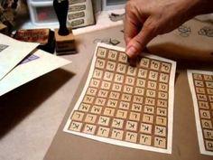 make your own scrabble letter tiles Scrabble Letters Printable, Scrabble Letter Crafts, Scrabble Ornaments, Scrabble Art, Scrabble Frame, Creative Arts And Crafts, Easy Crafts, Printable Board Games, Diy Gift Box
