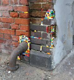 German lego- artist Jan Voorman  and his Art movement Dispatchwork with the help of volunteers all over the world.