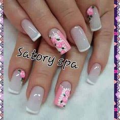 Liso y color Shellac Nails, Toe Nails, Pink Nails, Acrylic Nails, Fabulous Nails, Perfect Nails, Nagel Gel, Toe Nail Designs, Flower Nails