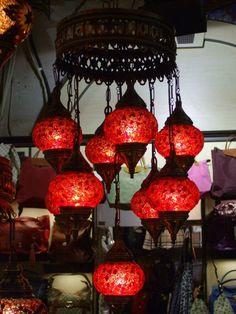 Türkische Mosaik-Lampen