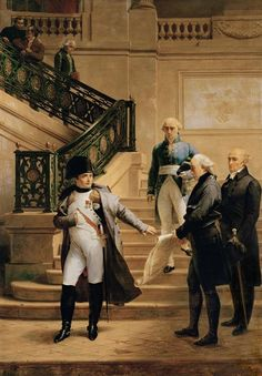 Napoleon I in the Palais Royal Received by the President of the Tribunal and Refusing th... by Merry Joseph Blondel (1807)