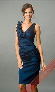 Short Dark Navy A-Line Sleeveless Homecoming Dress,Cocktail Dress,Sexy Prom Dress
