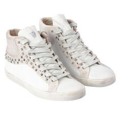 Studded sneakers from Crime Shoes - just ove them! https://www.fashion-locals.com/item/coole-sneakers #studs #fashionlocals