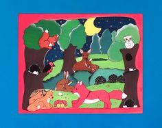Handgefertigtes Holz-Puzzle mit wunderschönem Motiv für Kinder Gifts, Kids, Nice Asses