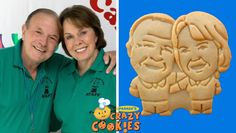 Custom Cookies! Put your face, or dog on cookie. Very reasonable minimum order.