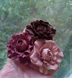 Брошь из кожи Розочки - брошь-цветок,розочки,подарок девушке,подарок женщине