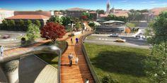 Footbridge to Ex-OfficineLenzi / BHDP  #landscape