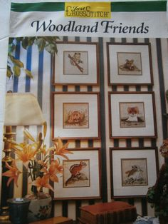 Just Cross Stitch Woodland Friends Pattern Book Frog Mouse Hamster Chipmunk   eBay