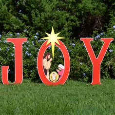 christmas decorations our new 2013 joy nativity printed yard sign is a beautiful and colorful addition to your