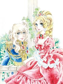 A postcard for The Rose of Versailles anime. The illustration of Oscar François de Jarjayes and Marie Antoinette is by the famous shojo manga artist, Riyoko Ikeda. Manga Anime, Old Anime, Lady Oscar, Artwork Images, Manga Artist, Animation, Japan Art, Manga Comics, Marie Antoinette