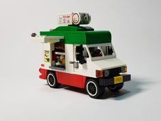 Lego Truck, Food Truck, Lego Creative, Lego Machines, Lego Vehicles, Awesome Lego, Cool Lego Creations, Lego Stuff, Lego Moc