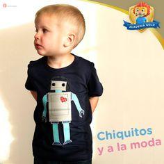 Los niños adoran los robots, así que esta playera puede ser un tema de conversación sobre cómo funcionan y por qué les gustan.