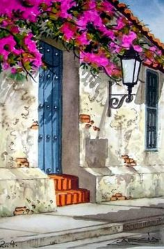 acuarelas pinturas at DuckDuckGo Pictures To Paint, Belle Photo, Landscape Art, Painting Inspiration, Painting & Drawing, Watercolor Paintings, Watercolors, Artsy, Fine Art