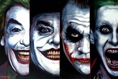 4 Of A Kind, original oil and acrylic 'The Joker' painting by Ben Jeffery