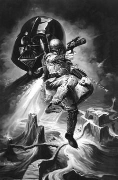 ✭ Bobba Fett and Darth Vader