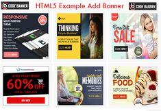 148 Best Html5 Banner Images Banner Ads Banner Html5