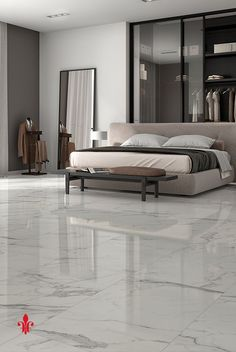 40 Amazing Marble Floor Designs For Home - Hercottage No matter what, everything should look perfect; that's the motto we cling on to. And what is more perfect than these Amazing Marble Floor Designs for Home? Floor Tiles For Home, Bedroom Floor Tiles, House Tiles, Bedroom Flooring, Living Room Flooring, Tile Floor, Home Tiles Design, Floor Design, House Design