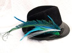 LIGHT UP Peacock Sword Feather Hair or Hat by LoveJoyAdornments, $29.00