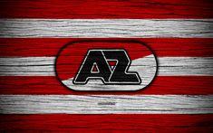 Download wallpapers AZ Alkmaar FC, 4k, Eredivisie, soccer, Netherlands, football club, AZ Alkmaar, wooden texture, FC Alkmaar
