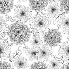 design floral padrão Vetor grátis