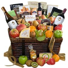 The Motherlode of California artisan gourmet and fruit presented in impressively-sized keepsake basket, this is a gold mine of incredible artisan treasures! Wine Country Gift Baskets, Wine Baskets, Champagne Gift Baskets, Rustic Bakery, Mothers Day Baskets, Cheese Gifts, Red Pear, Dark Chocolate Almonds, Fruit Gifts