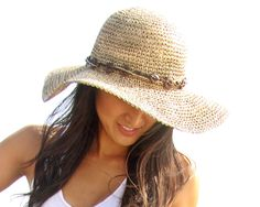 Seagrass straw beach hat from Boardwalk Style.  Fashion  Beach  Hat  Straw  · Wide Brim ... f73f6e15ad4c