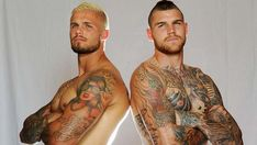 Rugby Players Josh Dugan and Sandor Earl Rugby Tattoos, Hot Tattoos, Tattoos For Guys, Johnathan Thurston, Hot Rugby Players, Rugby Men, Athletic Supporter, Hunks Men, Tattoo Project