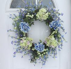 Spring Fever Violet Berry and Hydrangea Door Wreath For Everyday Decorating Wreaths For doors http://www.amazon.com/dp/B00UB6UGE8/ref=cm_sw_r_pi_dp_FNLavb0C7J9EH