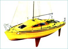 Small Sailboats, Yacht Design, Boat Building, Rowing, Sailing, Vehicles, Ships, Toy, Stitch