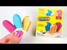 DIY American Girl Doll Creamsicle Popsicles - YouTube