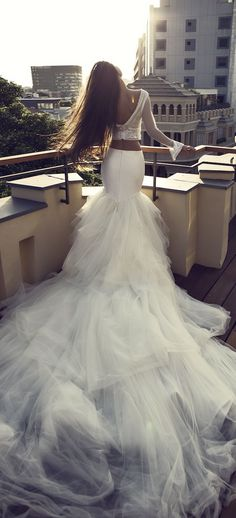 Bridal Trends: Two- Piece Wedding Dresses | Zahavit Tshuba 2016 Bridal Collection