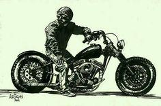 His Bike.the miles : Photo Bobber, Pinstriping, Compro Moto, Bike Drawing, Motorcycle Logo, Motorcycle Birthday, Desenho Tattoo, Garage Art, Drawing Projects