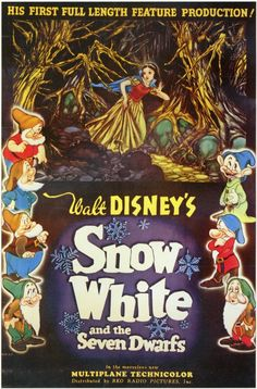 Snow White and the Seven Dwarfs 11x17 Movie Poster (1937)