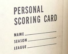 vintage golf score card - Google 검색