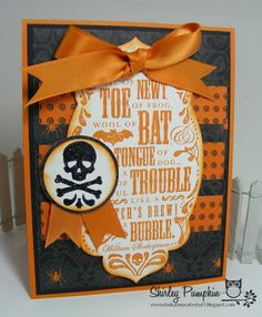 Cute stuff by Shirley: Toil and Trouble Card with Mojo Monday Sketch
