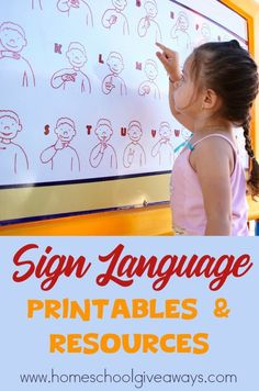 Sign Language Printables and Resources - you can teach sign language for FREE!