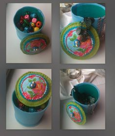 Little felt jewellery box