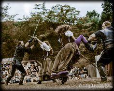 Living Chess Match: Sir Walter Raleigh, Capt. Brendon Bull, Jenny Wren & Maid Marian Photo By: Deborah Grosmark
