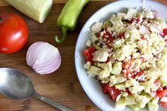 Shopska Salata - Bulgarian Salad recipe with Bulgarian Feta.