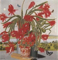 Adolf Dietrich — Blooming Cactus Snake in front of Landscape, 1944 George Grosz, Figurative Kunst, Social Art, Flower Pots, Flowers, Art Database, Naive Art, Global Art, Art Market