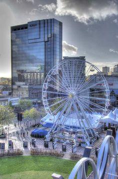 View over Broad Street, Birmingham UK