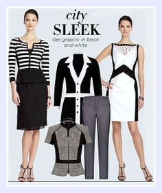 Spring Trend: GRAPHIC black and white | Etcetera Spring 2014 Collection- black and white pattern idea