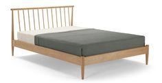 Penn Kingsize Bed, Oak   made.com