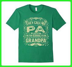 Mens They call me PA, too cool to be called Grandpa Small Kelly Green - Relatives and family shirts (*Amazon Partner-Link)