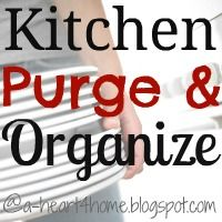Kitchen Purge & Organize {Finished Friday} Come and link up your finished projects @ a-heart4home.blogspot.com