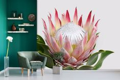 FLORALFrom R400.00 p/m2. We measure, print and install.EleganceFrom R400.00 p/m2. We measure, print and install.Floral RoyalFrom R400.00 p/m2. We measure, print and install.Pink RosesFrom... Protea Bouquet, Protea Flower, Flowers, Wall Papers, Entrance Hall, Stargazing, Pink Roses, Poppies, Lily