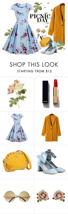 """""""Picnic Day! Cuopon code:TD201705"""" by gabyidc ❤ liked on Polyvore featuring Chanel, Kate Spade, Miu Miu, ZeroUV, Les Néréides and vintage"""