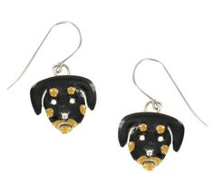 Rottweiler Enamel & Silver Dangling Earrings AJ, http://www.amazon.com/dp/B008GTGOAW/ref=cm_sw_r_pi_dp_xi1.pb0E61PTN